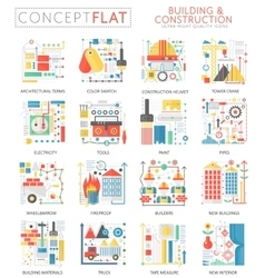 Infographics mini concept building construction vector image