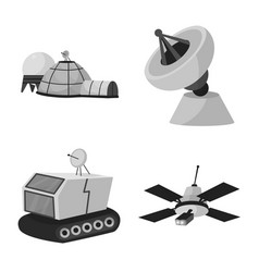 Isolated object universe and travels logo set vector