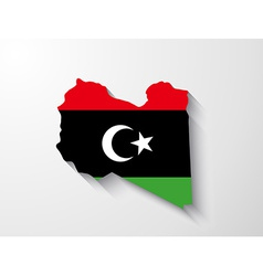 Libya map with shadow effect vector image