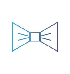 Line nice bowtie style decoration design vector