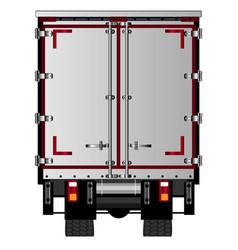 Lorry rear doors vector