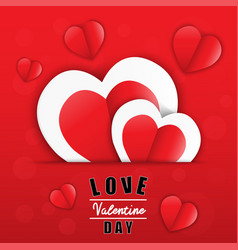 love for valentines day happy valentines day vector image