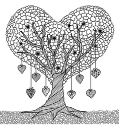 love tree coloring vector image