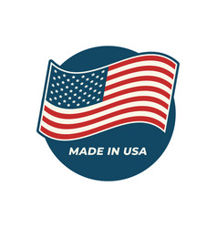 made in usa composition with american flag vector image