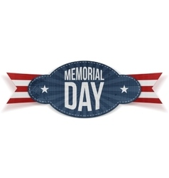 Memorial Day greeting Badge vector