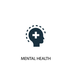 Mental health icon simple element vector