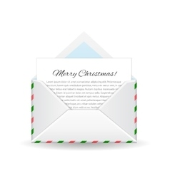 Merry christmas and happy New Year Message from vector image