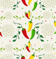 Mexican chili pepper pattern vector