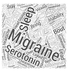 Migraines and Insomnia Word Cloud Concept vector