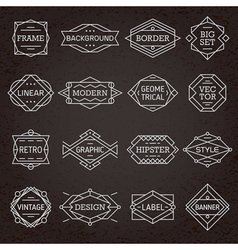 modern hipster frames borders labels vector