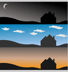 morning afternoon evening vector image