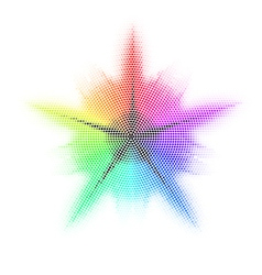 Mosaic Different colored vector image