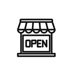 open shop icon vector image