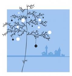 ornament tree vector image