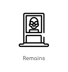 Outline remains icon isolated black simple line vector
