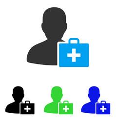Paramedic flat icon vector