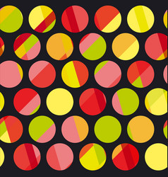 Polka dot motif modern concept vector