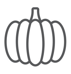 Pumpkin line icon vegetable and food vector