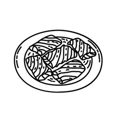 Sarma icon doodle hand drawn or outline icon style vector