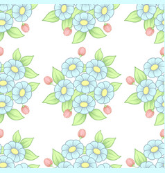 seamless pastel flowers background vector image