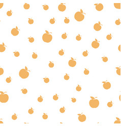 Seamless pattern with apples white backg vector
