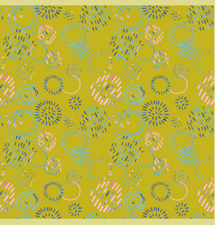 seamless pattern with colorful hand drawn abstract vector image