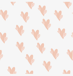 seamless pattern with valentine s day elements vector image