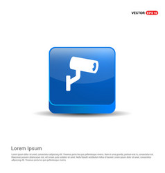 security camera icon - 3d blue button vector image