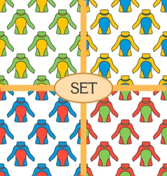 Set of seamless pattern with thermal underwear vector