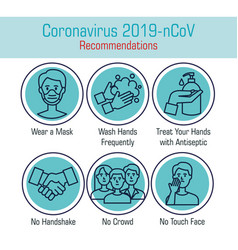 Set recommendations for covid 19 vector