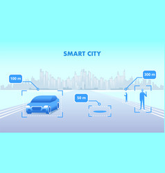 smart city flat cityscape vector image