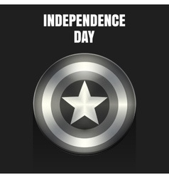 Stock independence day shield vector image