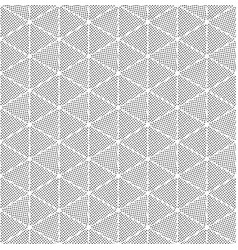 Triangular distressed halftone pattern dotted vector