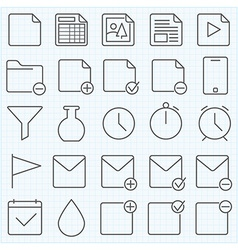 Universal GUI icons set vector image vector image