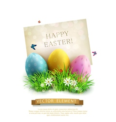 vintage element for design Easter vector image