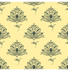 Vintage seamless persian paisley floral element vector