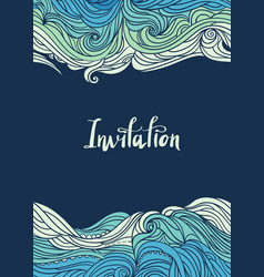 waves flyer templates-09 vector image