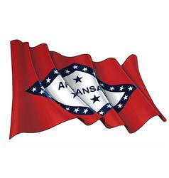 Waving flag state arkansas vector
