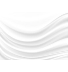 white fabric satin wave background texture vector image