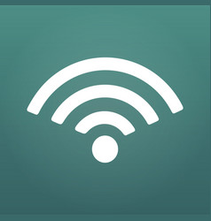 wifi icon flat design style isolated on modern vector image