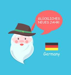 germany santa claus poster vector image