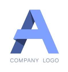 Letter A logo concept vector image vector image