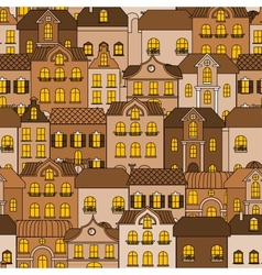 Old town seamless pattern vector image