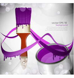 paint brush paint tin vector image vector image