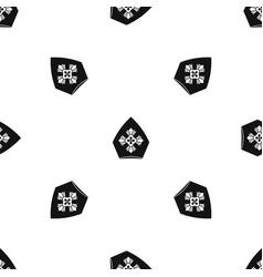 christian hat pattern seamless black vector image vector image