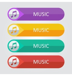 flat buttons music vector image