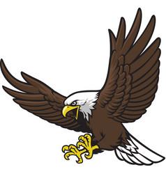 flying eagle mascot vector image vector image