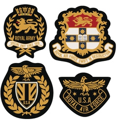 heraldic emblem badge shield vector image