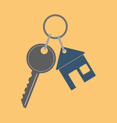 icon key icon from the house flat vector image vector image