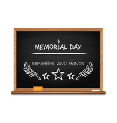 memorial day concept design with hand lettering vector image vector image